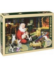 Пъзел Cobble Hill от 1000 части - Време за игра с Дядо Коледа, Том Нюсъм -1