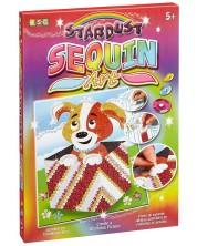 Творчески комплект KSG Crafts Sequin Art Stardust - Изкуство с пайети и брокат, Куче