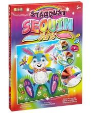 Творчески комплект KSG Crafts Sequin Art Stardust - Изкуство с пайети и брокат, Заек