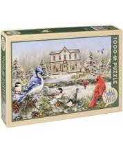Пъзел Cobble Hill от 1000 части - Къщичка за птички, Грег Джордано