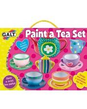 Творчески комплект за рисуване Galt - Сервиз за чай