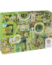 Пъзел Cobble Hill от 1000 части - Зелено, Шели Дейвис -1