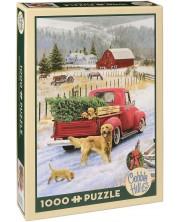 Пъзел Cobble Hill от 1000 части - Коледа във фермата -1