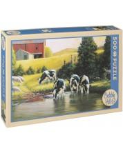 Пъзел Cobble Hill от 500 части - Кравите холщайн, Дъглас Лейрд -1