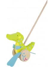 Дървена играчка за бутане Goki, Susibelle - Дракон