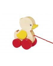 Дървена играчка за дърпане Goki - Пате -1