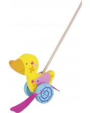 Дървена играчка за бутане Goki Susibelle - Пате -1