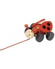 Дървена играчка за дърпане Goki - Калинка