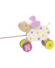 Дървена играчка за дърпане Goki Susibelle - Овчица -1