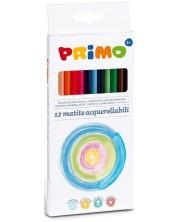 Акварелни моливи Primo - 12 цвята, триъгълни