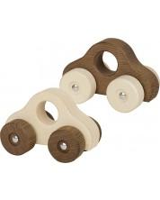 Дървена играчка Goki Nature - Количка (асортимент) -1