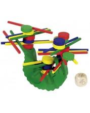 Дървена игра за балансиране Goki - Крокодил