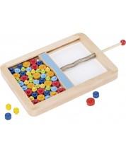 Дървена игра Goki - Микадо, с дискове