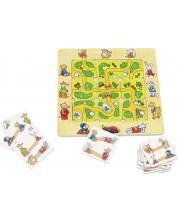 Дървена игра за памет Goki - Намери пътя
