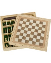 Игрален комплект Goki - Шах, дама и морски шах