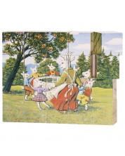 Дървени кубчета Goki - Приказки, 20 части -1