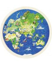 Дървен пъзел Goki - Глобус