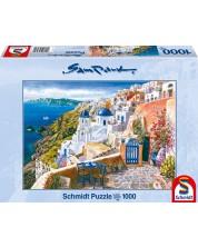 Пъзел Schmidt от 1000 части - Изглед към Санторини, Сам Парк