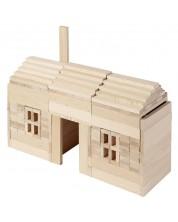 Дървен конструктор Goki, Nature - 200 части