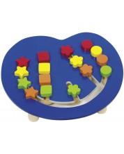 Дървена игра Goki - Сортиране по цветове и форми