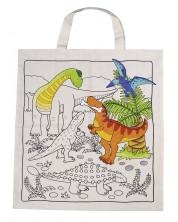 Памучна торба за оцветяване Goki - Динозавър