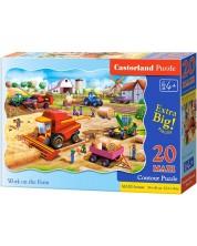 Пъзел Castorland от 20 XXL части - Работа във фермата
