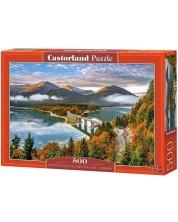 Пъзел Castorland от 500 части - Изгрев над езерото Силвенщайн, Германия