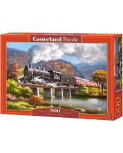 Пъзел Castorland от 500 части - Парен локомотив, Сунг Ким