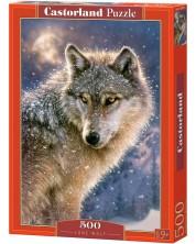 Пъзел Castorland от 500 части - Вълк единак -1