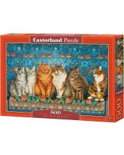 Пъзел Castorland от 500 части - Котешка аристокрация -1
