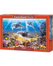 Пъзел Castorland от 500 части - Делфини под водата