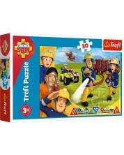 Пъзел Trefl от 30 части - Пожарникарят Сам, Готов да помогне