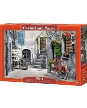 Пъзел Castorland от 500 части - Алея с червен велосипед