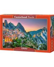 Пъзел Castorland от 1500 части - Изгрев над Кастелмецано, Италия -1