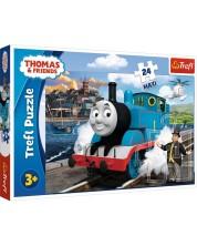 Пъзел Trefl от 24 макси части - Щастливият ден на Томас