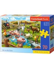 Пъзел Castorland от 70 части - Животът във фермата