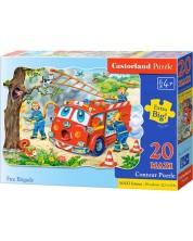 Пъзел Castorland от 20 XXL части - Пожарникари спасяват коте -1