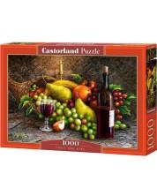Пъзел Castorland от 1000 части - Плодове и вино -1