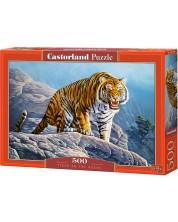 Пъзел Castorland от 500 части - Тигър на скалата