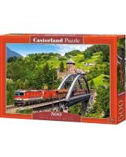 Пъзел Castorland от 500 части - Влак на моста