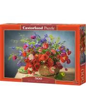 Пъзел Castorland от 500 части - Букет с макове
