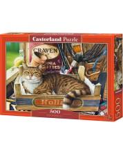 Пъзел Castorland от 500 части - Коте в щайга