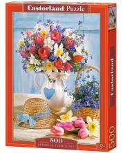 Пъзел Castorland от 500 части - Пролет във ваза с цветя
