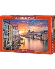 Пъзел Castorland от 500 части - Венеция по залез -1