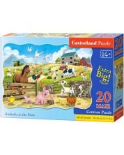 Пъзел Castorland от 20 XXL части - Животни във фермата
