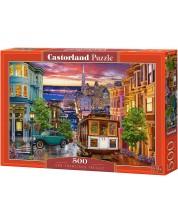 Пъзел Castorland от 500 части - Тролей в Сан Франциско -1