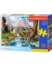 Пъзел Castorland от 70 части - Горски животни