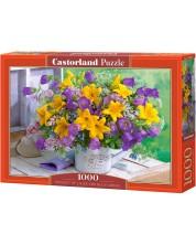 Пъзел Castorland от 1000 части - Букет от лилии и камбанки -1