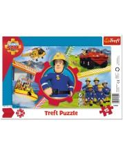 Пъзел в рамка Trefl от 15 части - Един ден на пожарникаря Сам