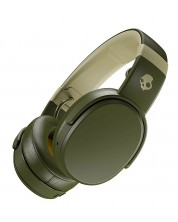 Слушалки с микрофон Skullcandy - Crusher Wireless, moss/olive/yellow